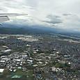 空から見る熊本空港付近
