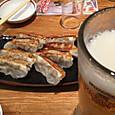 ビール&餃子