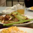 レタスと牛肉炒め